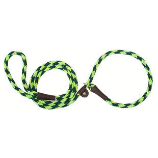 JADE DIAMOND LARGE MENDOTA BRITISH STYLE SLIP LEAD 1/2 X 6 FT - BD Luxe Dogs & Supplies