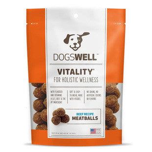 DOGSWELL VITALITY MEATBALLS BEEF RECIPE 5OZ TREATS - BD Luxe Dogs & Supplies