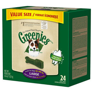 GREENIES 36OZ VALUE TUB DOG TREATS SIZE LARGE - BD Luxe Dogs & Supplies