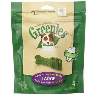 GREENIES 6OZ BAG DOG TREATS SIZE LARGE - BD Luxe Dogs & Supplies - 1