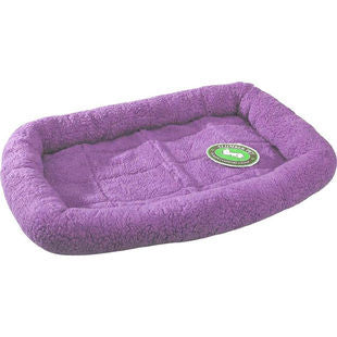 LAVENDER PURPLE SLUMBER PET SHERPA CRATE BED - BD Luxe Dogs & Supplies