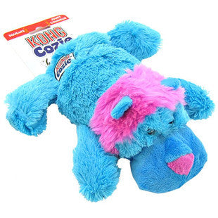 KONG COZIE KING THE BLUE LION DOG TOY - BD Luxe Dogs & Supplies