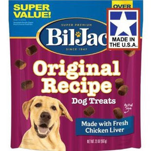 BIL-JAC SUPER VALUE FRESH CHICKEN LIVER DOG TREAT 20OZ - BD Luxe Dogs & Supplies - 1