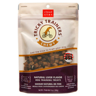 CLOUD STAR TRICKY TRAINERS LIVER CHEWY TRAINING TREATS 5OZ - BD Luxe Dogs & Supplies