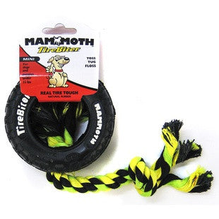 MAMMOTH MINI 3.5 INCH TIREBITER WITH ROPE - BD Luxe Dogs & Supplies