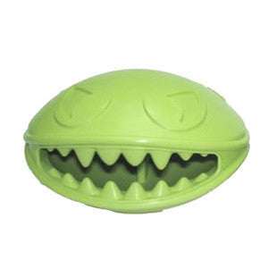 MINI MONSTER MOUTH TREAT DISPENSING RUBBER BALL TOY - BD Luxe Dogs & Supplies - 1