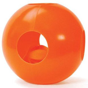 4.5 INCH ORANGE PAW-ZZLE BALL DOG TOY - BD Luxe Dogs & Supplies
