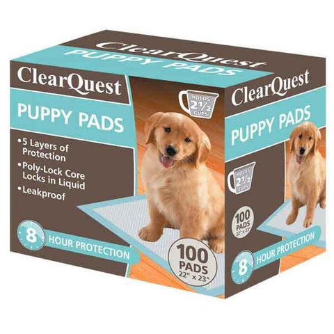 CLEARQUEST PUPPY PEE PADS 100 PACK - BD Luxe Dogs & Supplies - 1