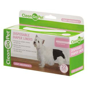 CLEAN GO PET DISPOSABLE DIAPER LINER 22 PACK - BD Luxe Dogs & Supplies
