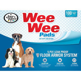 FOUR PAWS WEE WEE PADS 100PK BAG - BD Luxe Dogs & Supplies - 1
