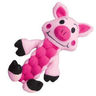 KONG PUDGE BRAIDZ PINK PIG FETCH TOY - BD Luxe Dogs & Supplies