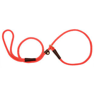 RED SMALL MENDOTA BRITISH STYLE SLIP LEAD 3/8 X 4 FT - BD Luxe Dogs & Supplies
