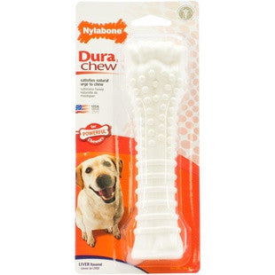 NYLABONE DURABLE CHEW BONE LIVER SOUPER - BD Luxe Dogs & Supplies