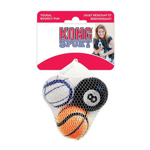 3 PACK MEDIUM ASSORTED KONG SPORTS BALLS - BD Luxe Dogs & Supplies