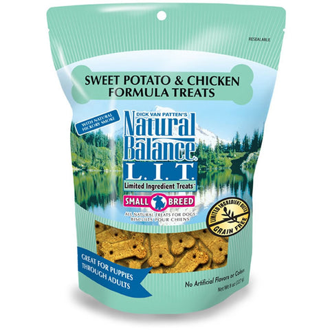 NATURAL BALANCE SMALL BREED CHICKEN & SWEET POTATO TREATS 8OZ - BD Luxe Dogs & Supplies - 1
