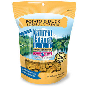 NATURAL BALANCE SMALL BREED DUCK & POTATO TREATS 8OZ - BD Luxe Dogs & Supplies