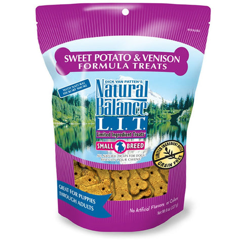 NATURAL BALANCE SMALL BREED SWEET POTATO & VENISON TREATS 8OZ - BD Luxe Dogs & Supplies - 1