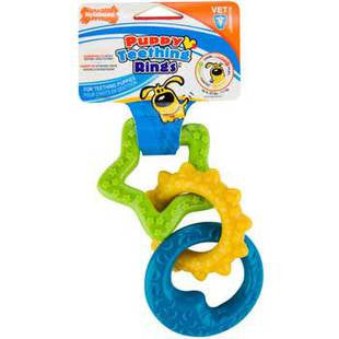 NYLABONE PUPPY CHEW TEETHING RINGS - BD Luxe Dogs & Supplies