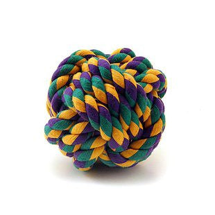 "MULTIPET NUTS FOR KNOTS DURABLE ROPE 2"" KNOT BALL - BD Luxe Dogs & Supplies"