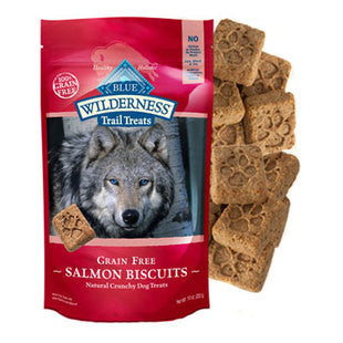 BLUE BUFFALO WILDERNESS TRAIL TREATS SALMON BISCUITS 10 OZ - BD Luxe Dogs & Supplies
