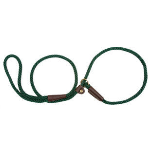 GREEN SMALL MENDOTA BRITISH STYLE SLIP LEAD 3/8 X 6 FT - BD Luxe Dogs & Supplies