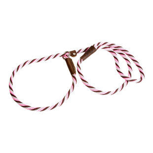 PINK CHOCOLATE SMALL MENDOTA BRITISH STYLE SLIP LEAD 3/8 X 4 FT - BD Luxe Dogs & Supplies