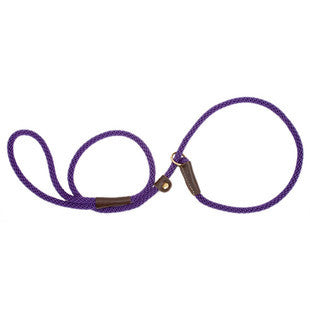 PURPLE SMALL MENDOTA BRITISH STYLE SLIP LEAD 3/8 X 6 FT - BD Luxe Dogs & Supplies
