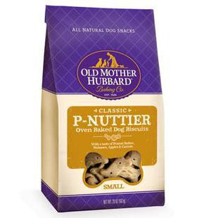 OLD MOTHER HUBBARD SMALL P-NUTTIER DOG BISCUIT TREATS 20OZ - BD Luxe Dogs & Supplies