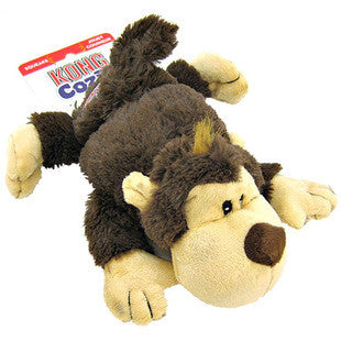KONG COZIE SPUNKY THE BROWN MONKEY DOG TOY - BD Luxe Dogs & Supplies