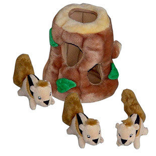 LARGE HIDE A SQUIRREL PUZZLE DOG TOY - BD Luxe Dogs & Supplies - 1