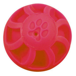 7 INCH RED SWIRL BALL DOG TOY - BD Luxe Dogs & Supplies