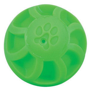 4 INCH GREEN SWIRL BALL DOG TOY - BD Luxe Dogs & Supplies