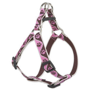 TICKLED PINK LUPINE LIFETIME GUARANTEED STEP IN DOG HARNESS