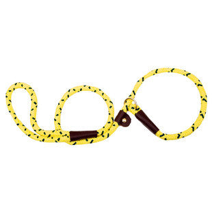 HI VIZ YELLOW LARGE MENDOTA BRITISH STYLE SLIP LEAD 1/2 X 6 FT - BD Luxe Dogs & Supplies
