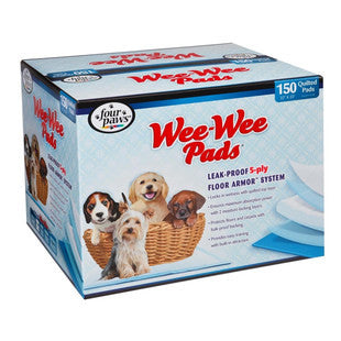 FOUR PAWS WEE WEE PADS BULK 150PK BOX - BD Luxe Dogs & Supplies