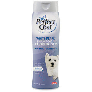 8IN1 PERFECT COAT WHITE PEARL DOG SHAMPOO AND CONDITIONER - BD Luxe Dogs & Supplies