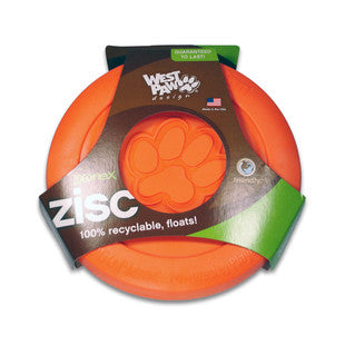 ORANGE WEST PAW DESIGNS ZOGOFLEX ZISC FLYER SIZE SMALL
