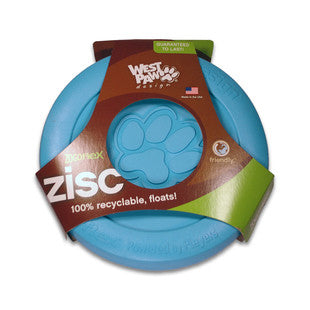 BLUE WEST PAW DESIGNS ZOGOFLEX ZISC FLYER SIZE SMALL - BD Luxe Dogs & Supplies - 1
