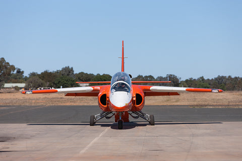 Image of an S-211 while it taxis at Temora Airport.