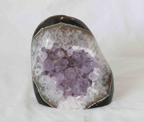 Amethyst Quartz Agate Crystal Polished Cluster - 1 pieces - Package A134