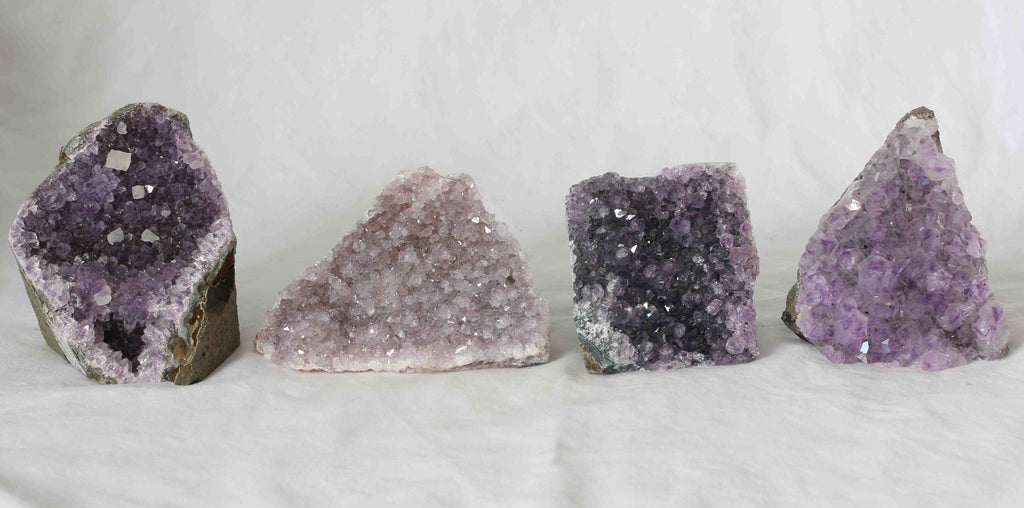 Amethyst Quartz Crystal Cluster - 4 pieces - Package A151