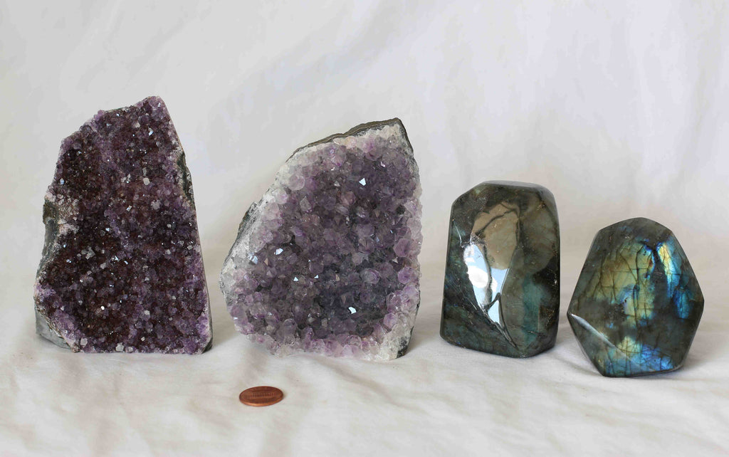 Amethyst - Labradorite - 4 pieces - Package A153