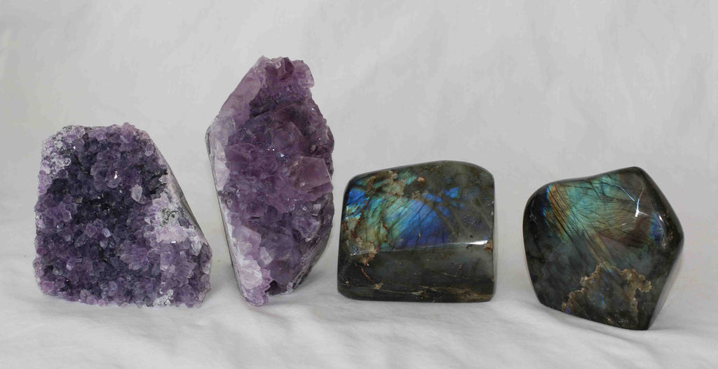 Amethyst - Labradorite - 4 pieces - Package A155