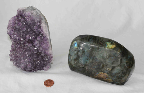 Amethyst - Labradorite - 2 pieces - Package A157