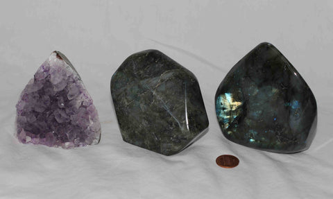 Amethyst - Labradorite - 3 pieces - Package A168
