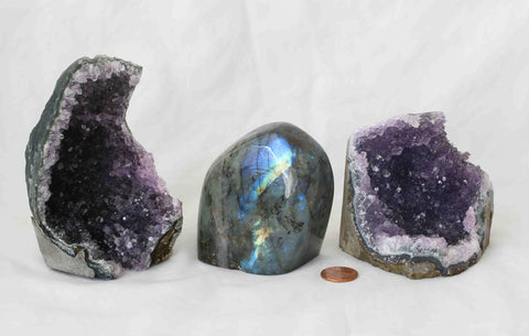 Amethyst - Labradorite - 3 pieces - Package A170