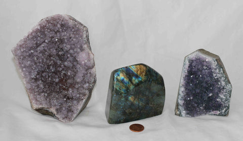 Amethyst - Labradorite - 3 pieces - Package AL171