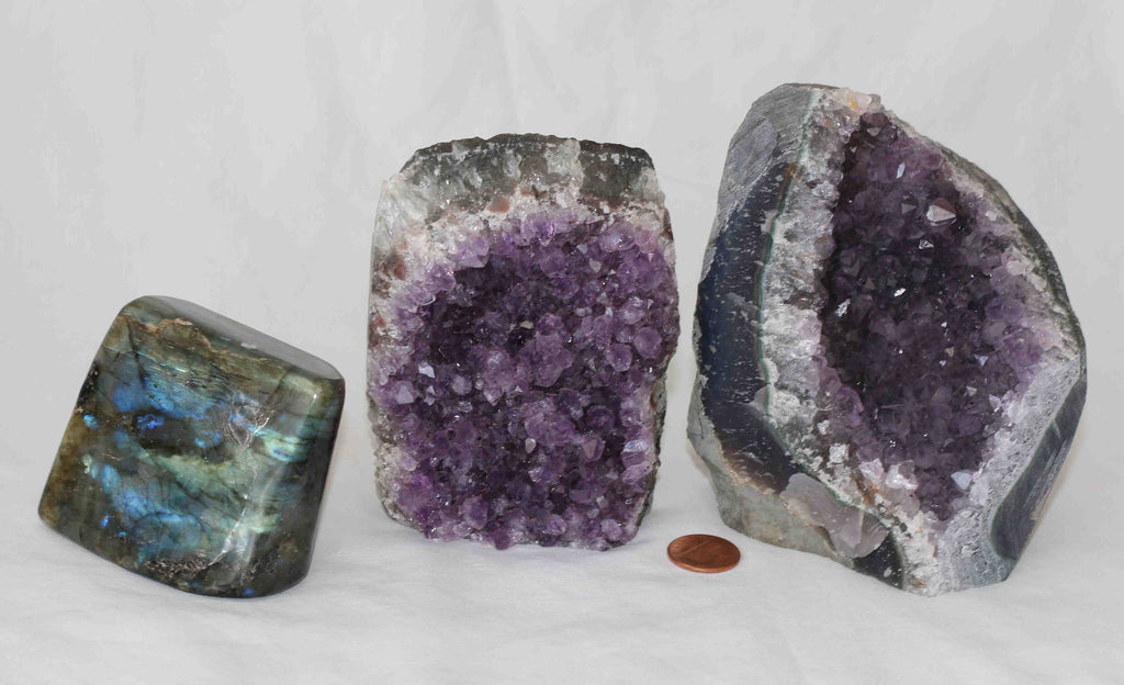 Amethyst - Labradorite - 3 pieces - Package AL172