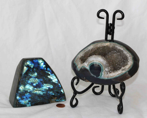 Agate Amethyst Geode - Labradorite - 2 pieces - Package GL173