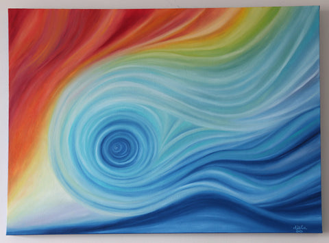 """Fluid"" ~ Oil Painting on Canvas - 30 x 40 inch"